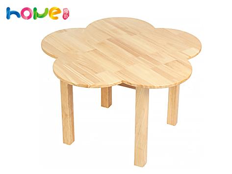 山东厚朴 幼教幼橡木梅花桌椅组