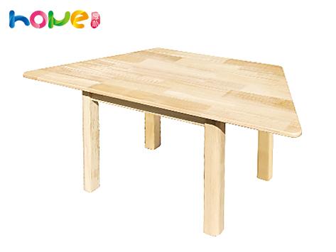 【幼教梯形桌】山东厚朴儿童实木造型梯形桌子