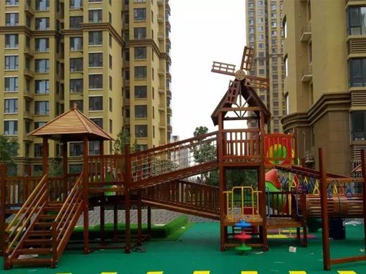 山东厚朴案例:大地坤泽幼儿园,大型户外组合滑