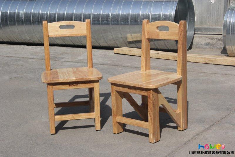 幼儿园橡木椅子:山东厚朴幼儿园实木Z字椅