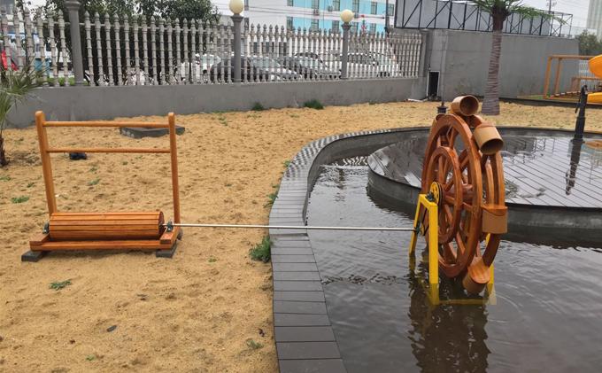 北京幼儿园木质户外玩具案例-山东厚朴客户实拍